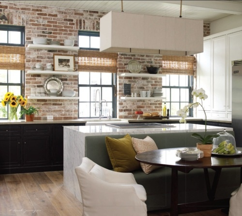 Banquet Kitchen Layout: Space Savers: Built-In Island Banquette
