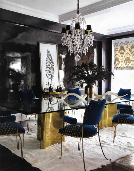 black-and-gold-dining-room