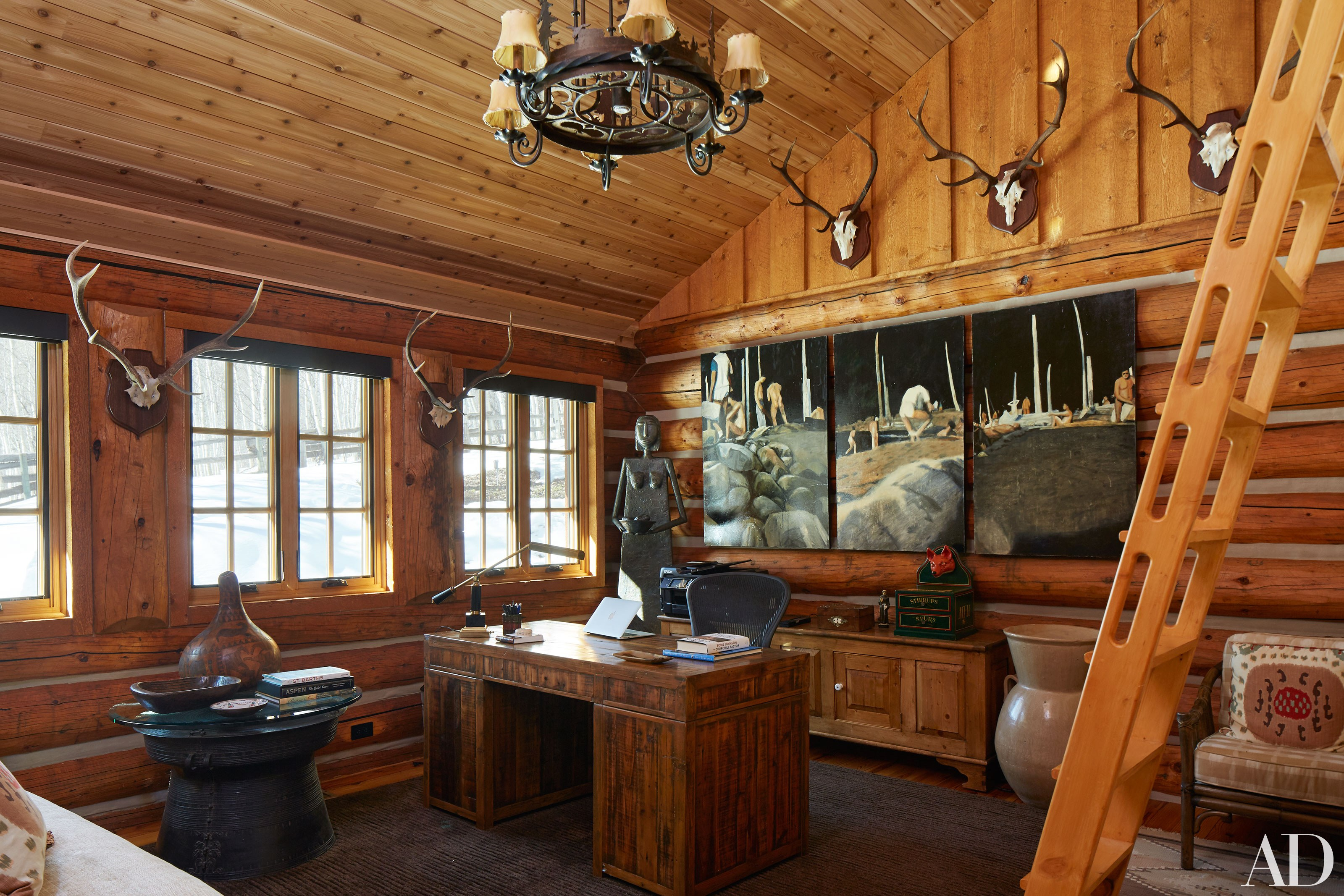 Out West Week Inside Pauline Pitt S Rustic Aspen Getaway