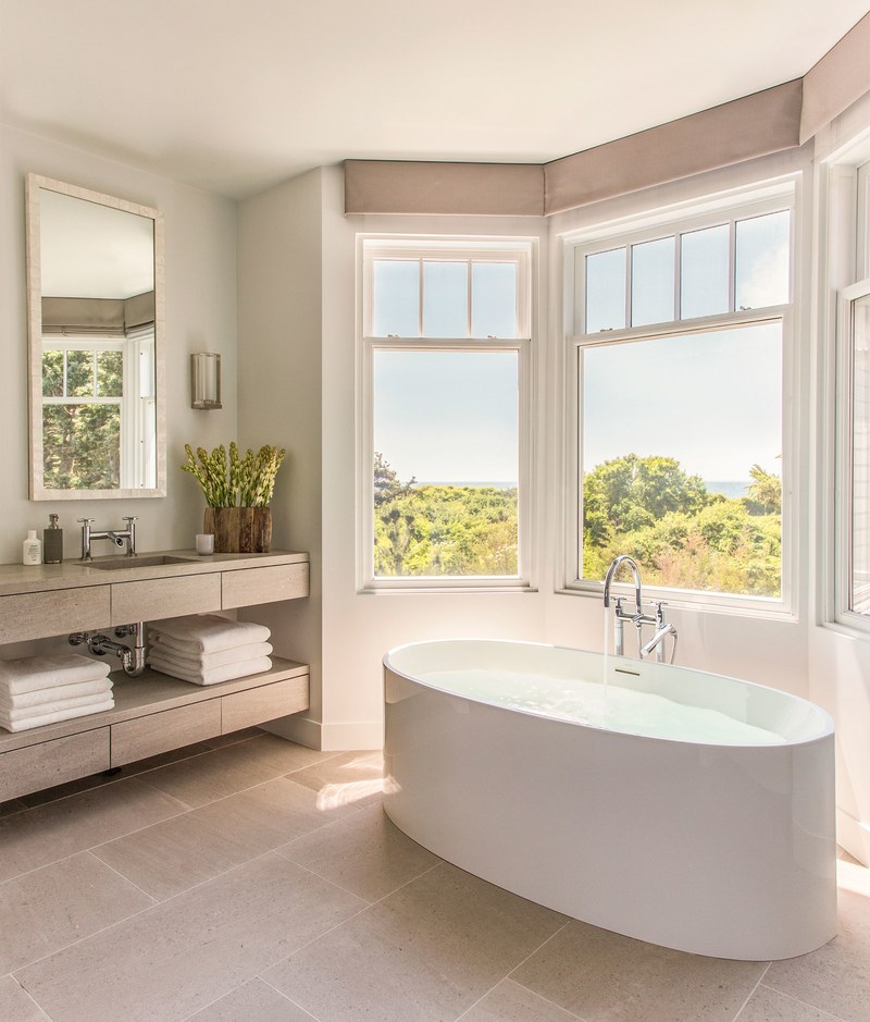 Home tour a polished cape cod retreat the english room for Cape cod bathroom design