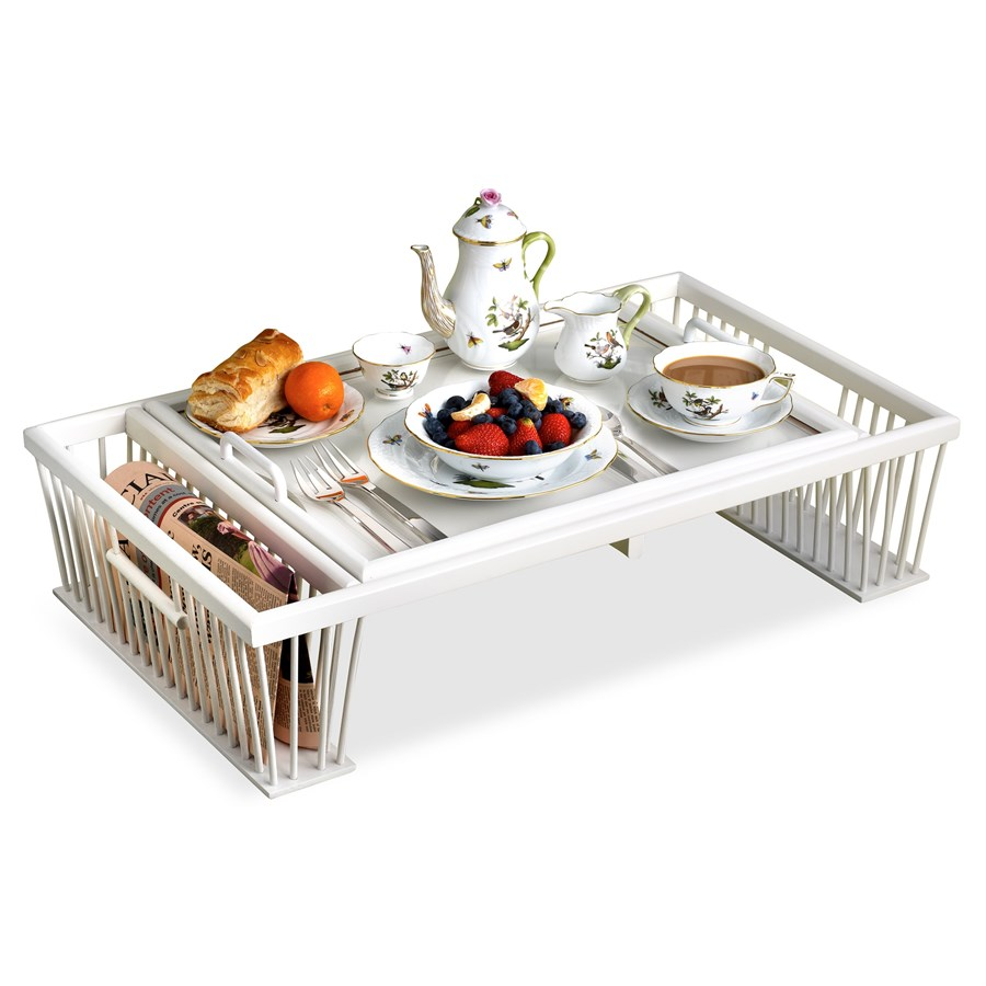 Wood Gl Breakfast Bed Tray With Reading Rack Lg